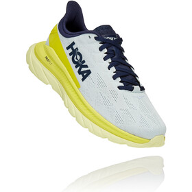 Hoka One One Mach 4 Shoes Women, blue flower/citrus